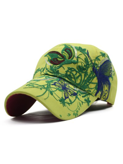 Butterfly Embroidery Baseball Hat