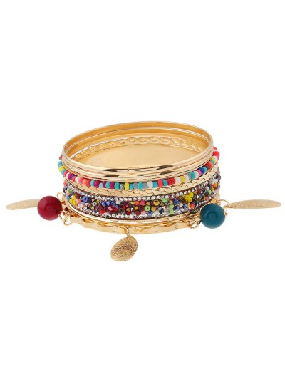 Rhinestone Beads Layered Bracelets