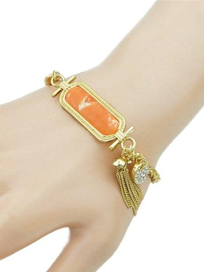 Delicate Rhinestone Charm Bracelet
