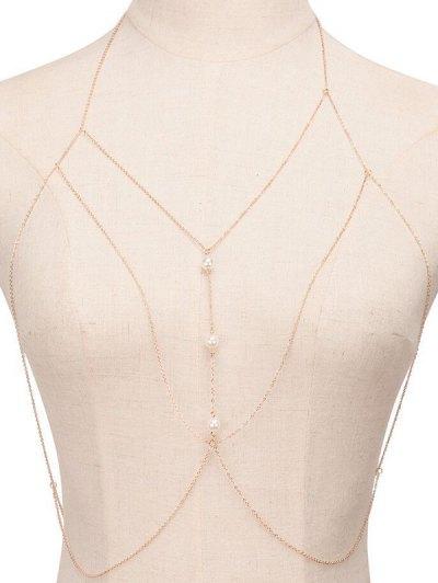 Chic Faux Pearl Sandbeach Body Chain