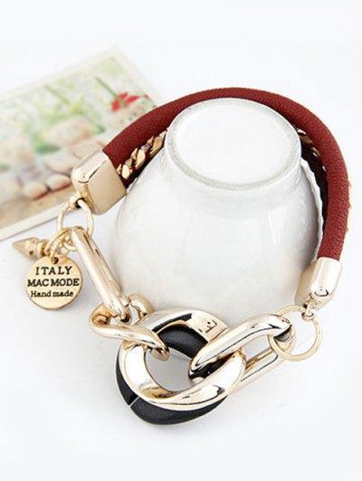 Disc Engraved Braided Bracelet