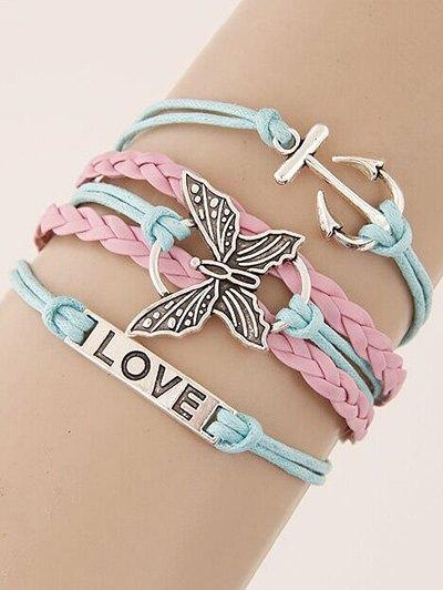 Butterfly Anchor Braided Bracelet