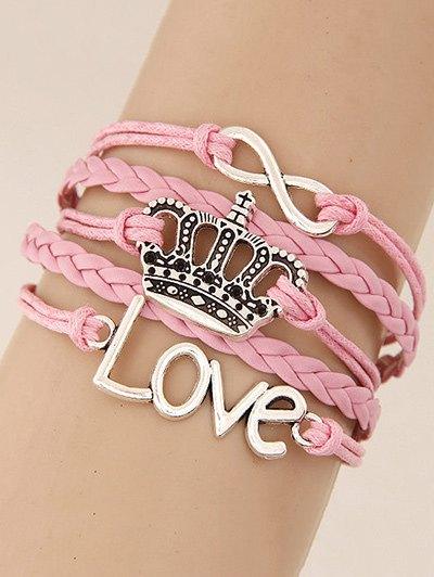 Crown Infinity Braided Bracelet