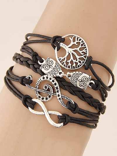 Tree of Life Owl Braided Bracelet