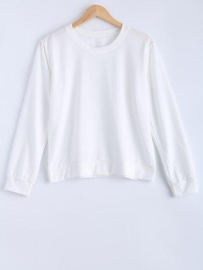 Women s Simple Design Pure Color Sweatshirt