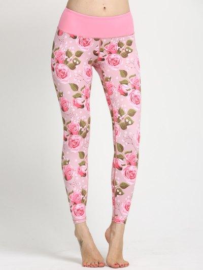 Floral Print Yoga Leggings