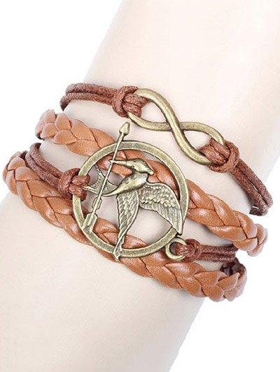 Bird Arrow Infinity Braided Bracelet