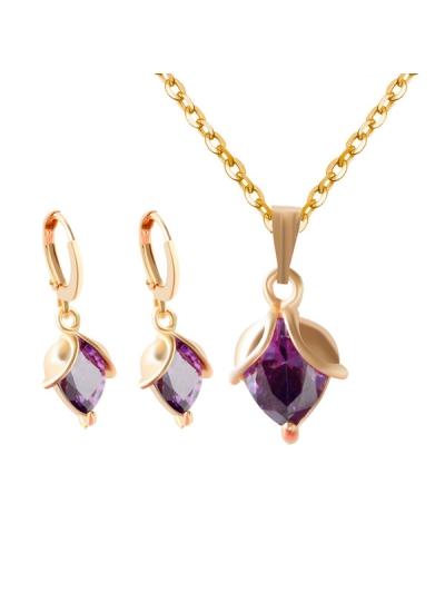 Faux Crystal Wedding Jewelry Set