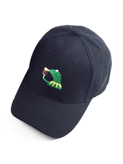 Frog Embroidery Baseball Hat