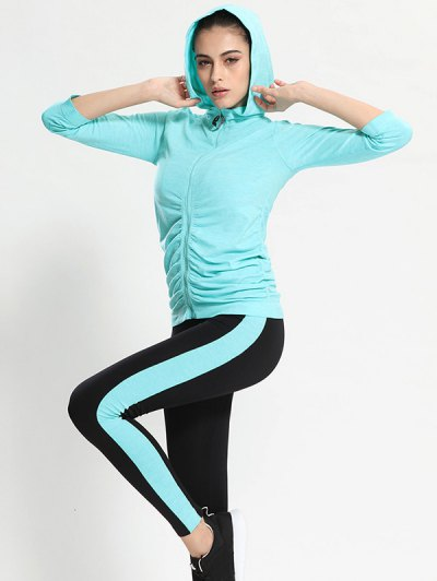 Hooded Gym Jacket With Sports Leggings