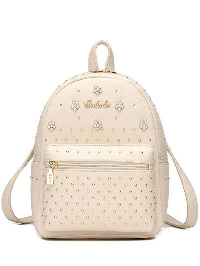 PU Leather Flowers Backpack