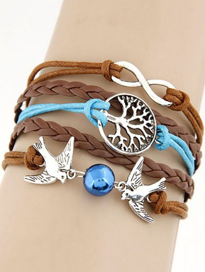 Peace Dove Braided Bracelet