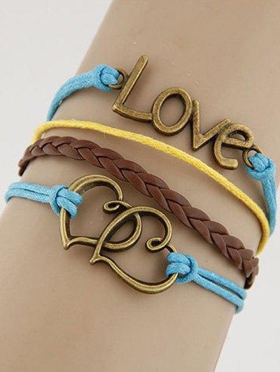 Hearts Love Braided Bracelet