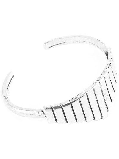 Vintage Alloy Geometric Cuff Bracelet