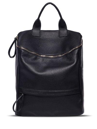 Metal Double Zipper Backpack