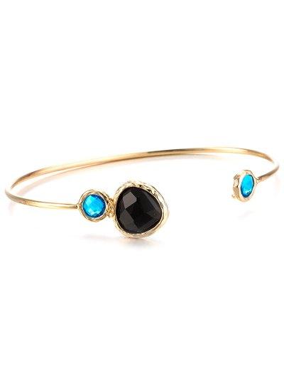 Faux Sapphire Alloy Cuff Bracelet