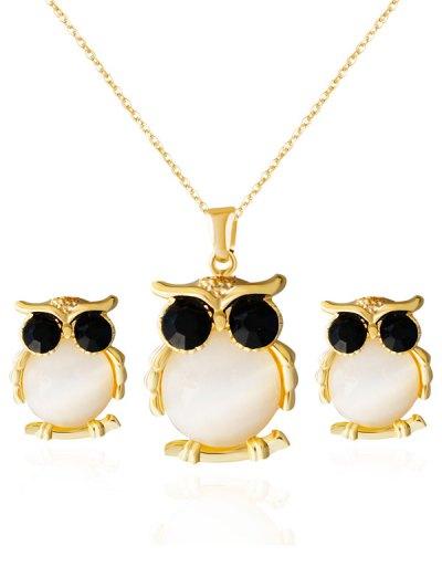 Faux Opal Owl Shape Jewelry Set