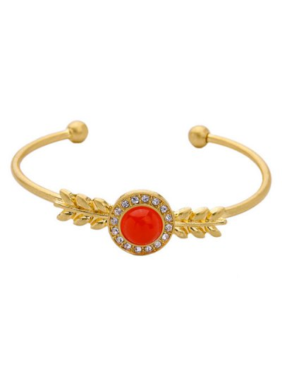 Faux Gem Rhinestone Cuff Bracelet
