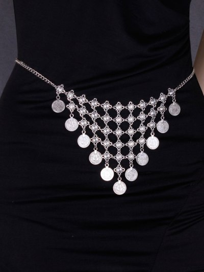 Alloy Coins Triangle Belly Chain