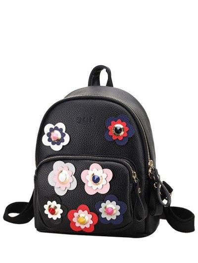 Flowers Rivets Backpack