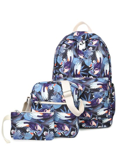 Floral Print Colour Block Backpack