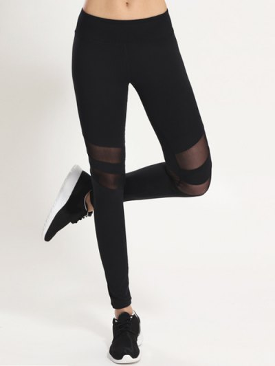 Mesh Patchwork Sporty Leggings