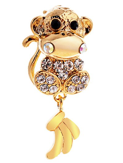 Monkey Rhinestone Brooch