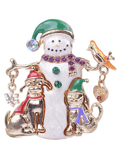 Christmas Snowman Brooch