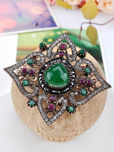 Faux Gem Hollow Out Brooch