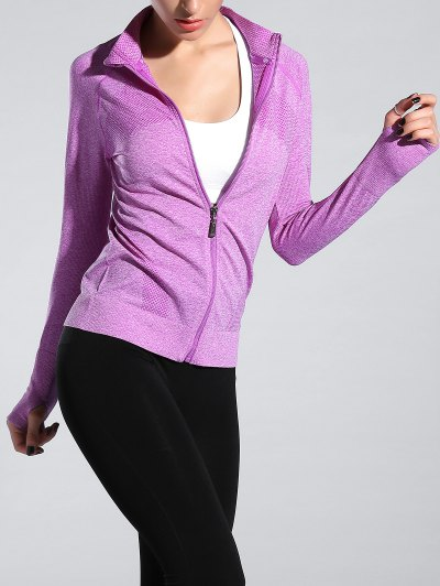 Space Dyed Zipper Flying Sporty Jacket