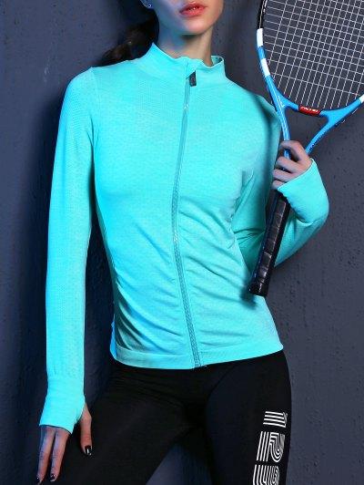 Zipper Flying Stretchy Sporty Jacket