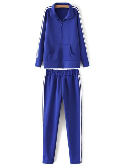 Zip Up Sports Jacket and Pants