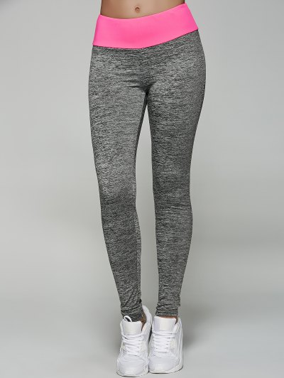 Space Dyed Color Spliced Leggings
