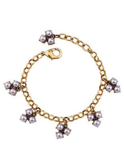 Retro Grape Alloy Charm Bracelet