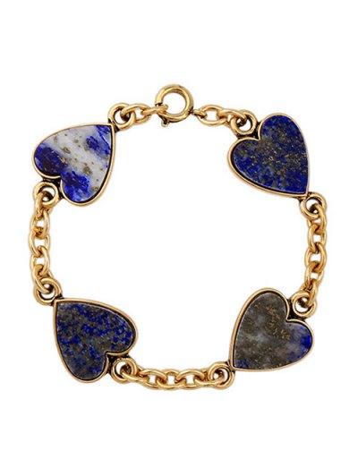 Natural Stone Heart Charm Bracelet