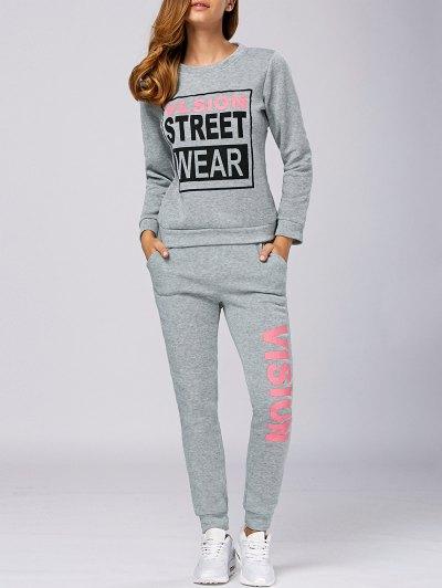 Vision Print Sweatshirt and Pants Set