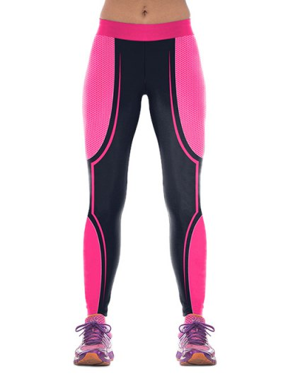 Color Block Skinny Sports Pants