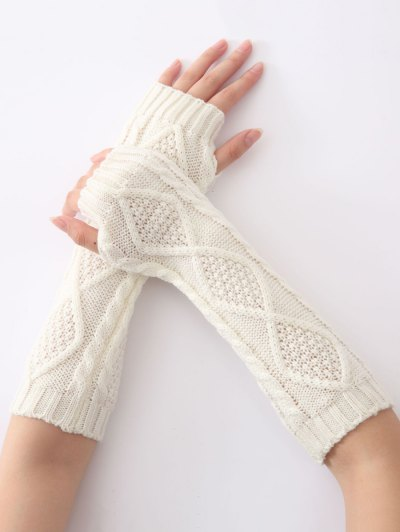 Winter Diamond Hollow Out Crochet Knit Arm Warmers