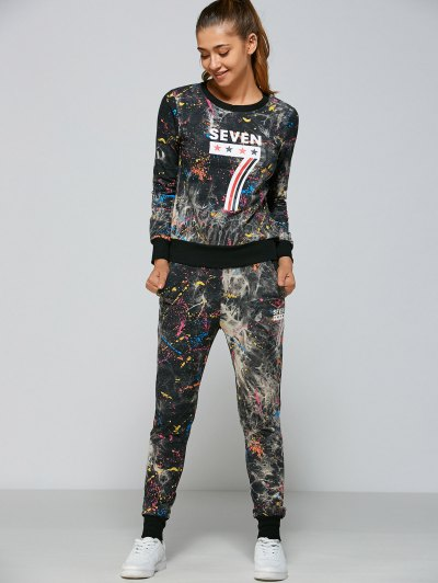Seven Pattern Sweatshirt Pants