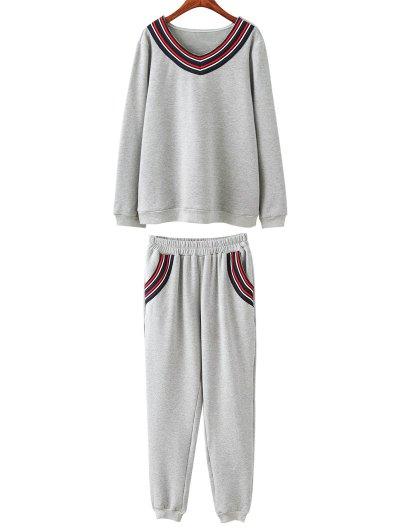 Plus Size Fleece Sweatshirt With Pants