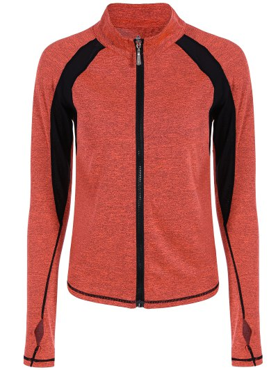 Breathable Heather Zip Up Sporty Jacket