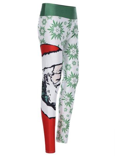 3D Santa Claus Print Leggings