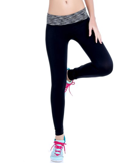 Space Dyed Stretchy Yoga Leggings