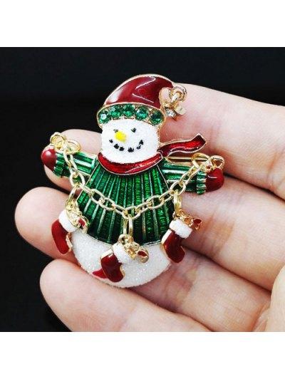 Christmas Snowman Gifts Enamel Brooch