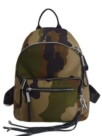Camouflage Pattern Tassels Backpack