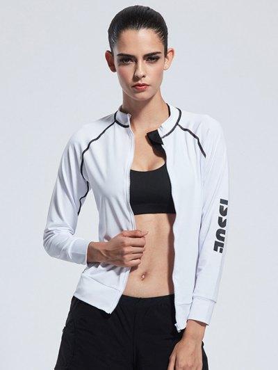 Zipper Bodycon Yoga Jacket
