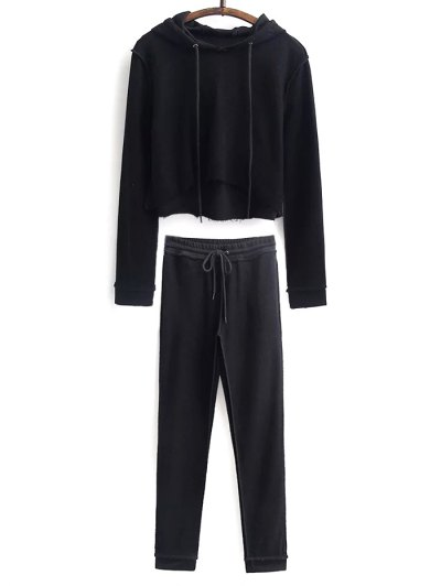 Cropped Hoodie and Drawstring Gym Pants