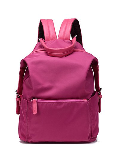 Double Buckle Splicing Backpack
