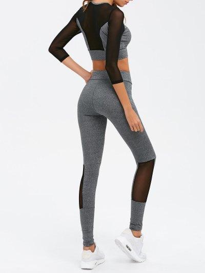 Mesh Splicing Sport Suit