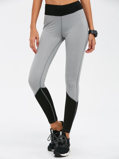 Color Block Skinny Sports Leggings